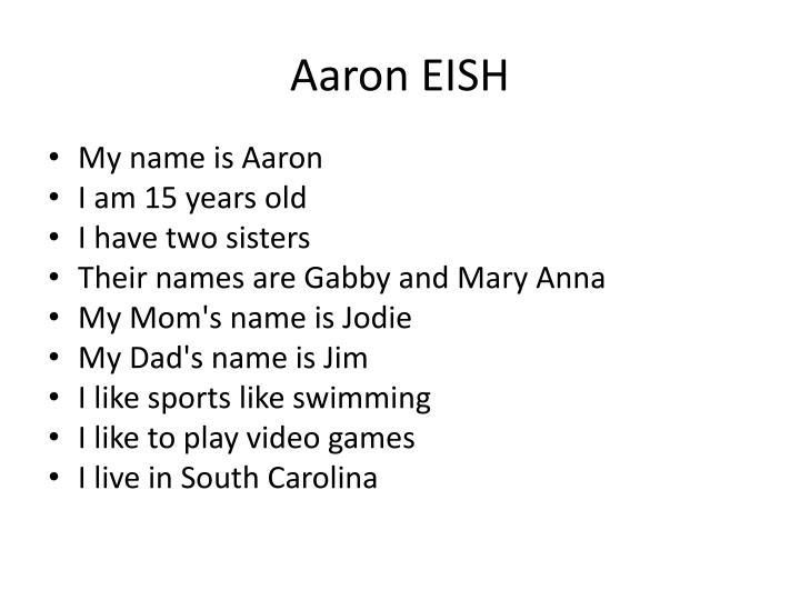 Aaron EISH