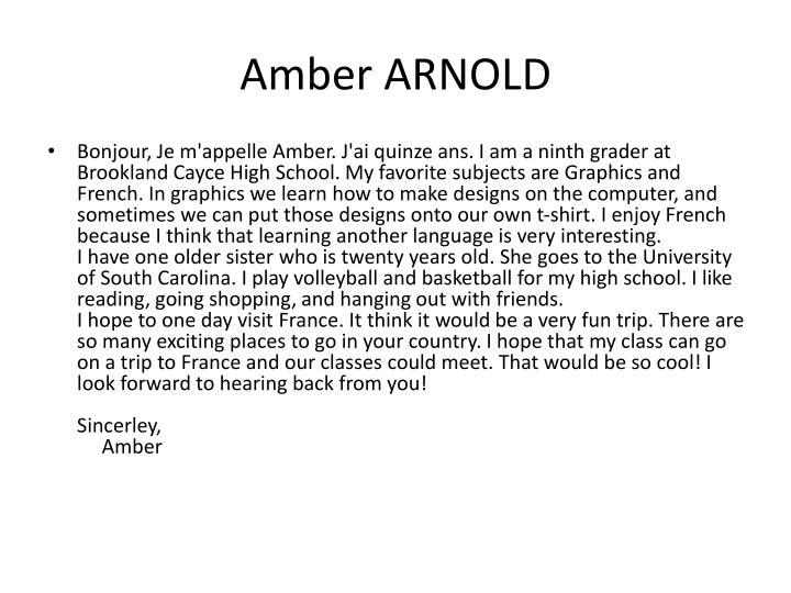 Amber ARNOLD