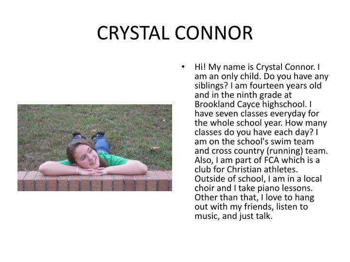 CRYSTAL CONNOR