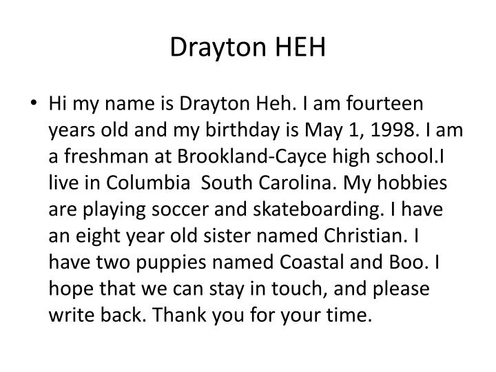 Drayton HEH