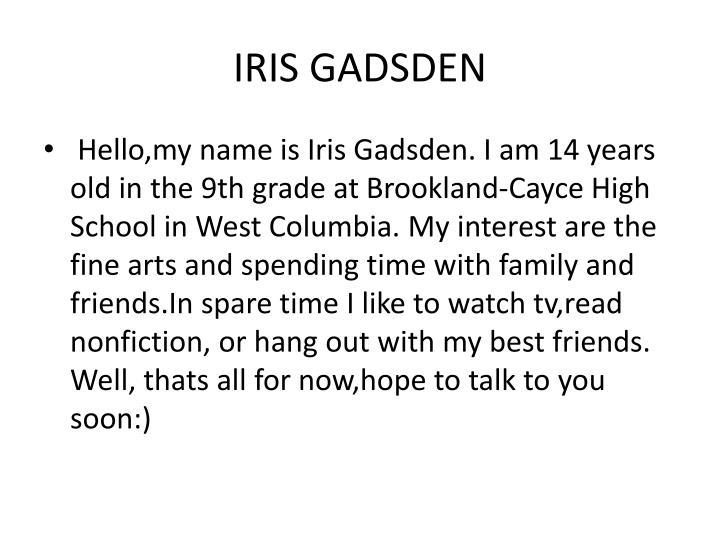 IRIS GADSDEN