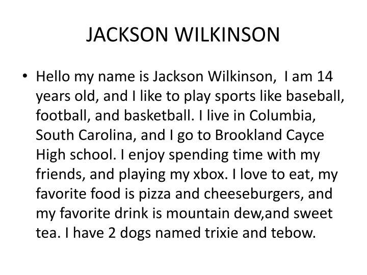 JACKSON WILKINSON