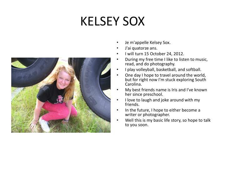 KELSEY SOX