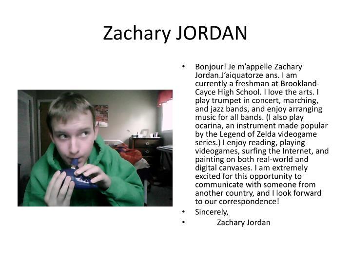 Zachary JORDAN