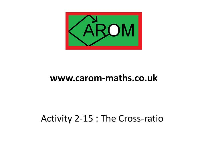 Www.carom-maths.co.uk