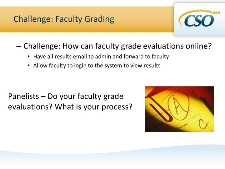 Challenge: Faculty Grading