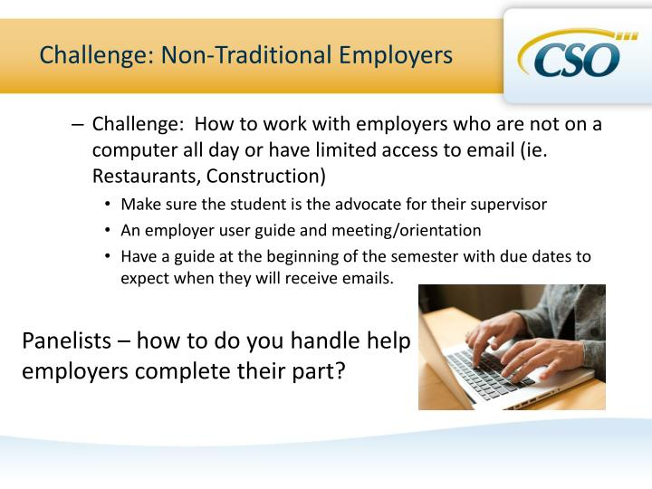 Challenge: Non-Traditional Employers
