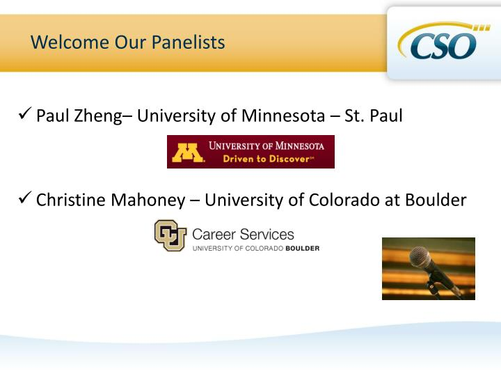 Welcome Our Panelists