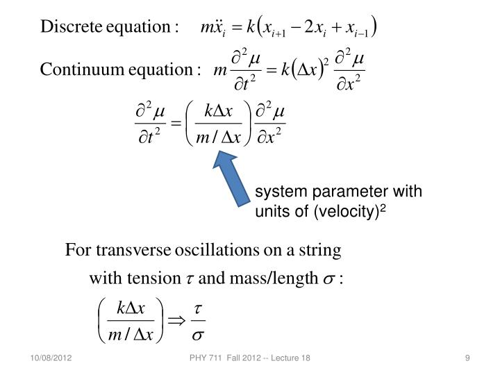 system parameter with units of (velocity)