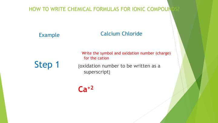 HOW TO WRITE CHEMICAL FORMULAS FOR IONIC COMPOUNDS?