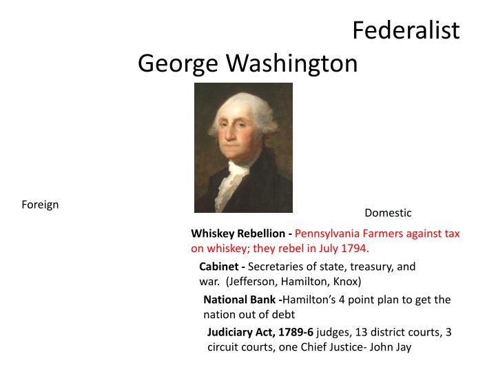 Federalist george washington