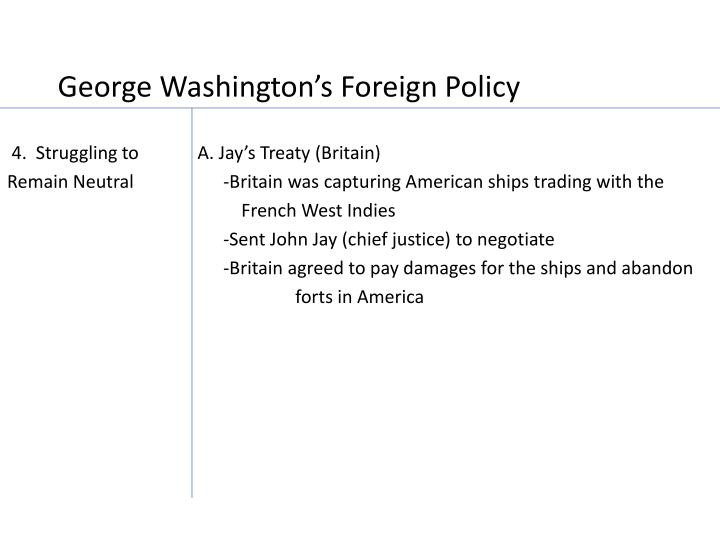 George Washington's Foreign Policy