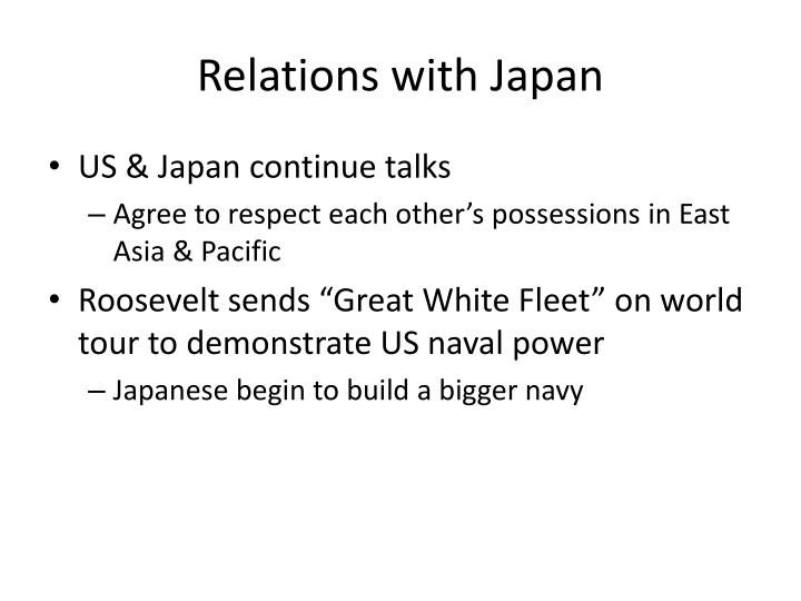 Relations with Japan