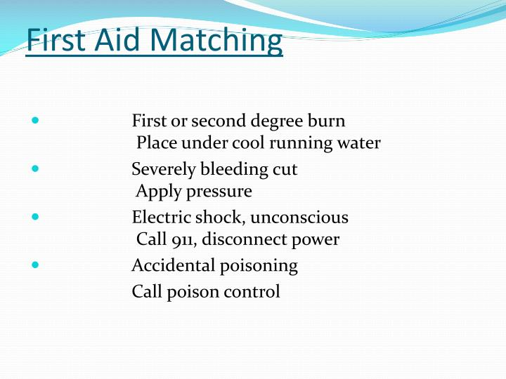 First Aid Matching