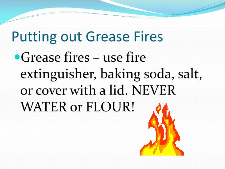 Putting out Grease Fires