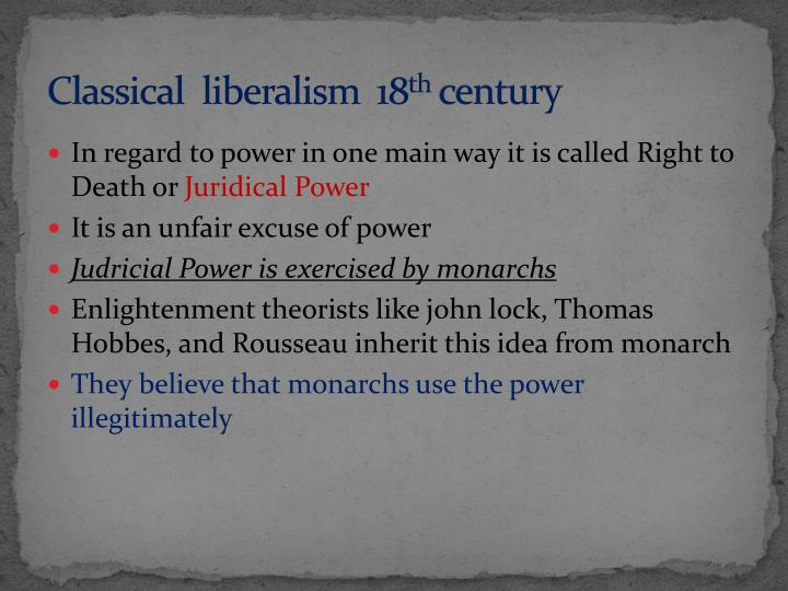 Classical  liberalism  18