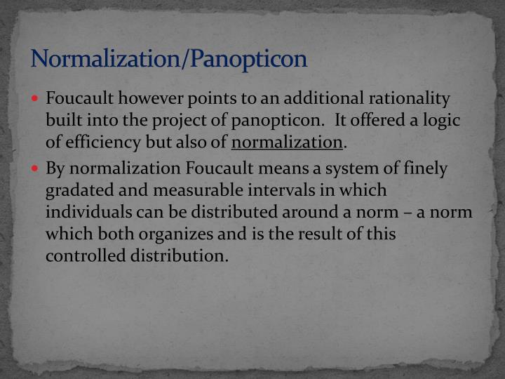 Normalization/