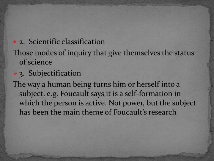 2.  Scientific classification