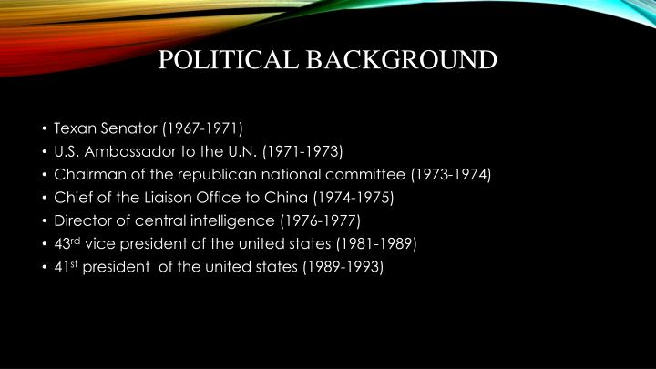 Political background