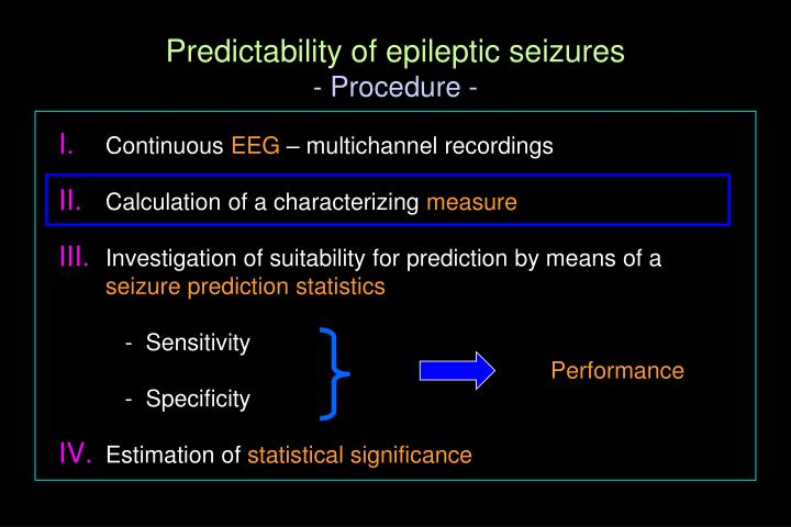Predictability of epileptic seizures
