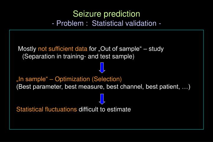 Seizure prediction
