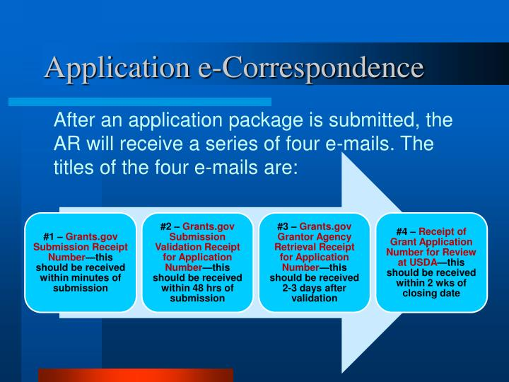 Application e-Correspondence