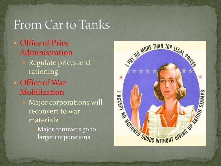 From Car to Tanks