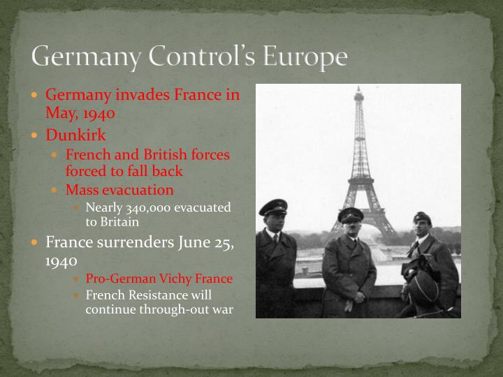 Germany Control's Europe