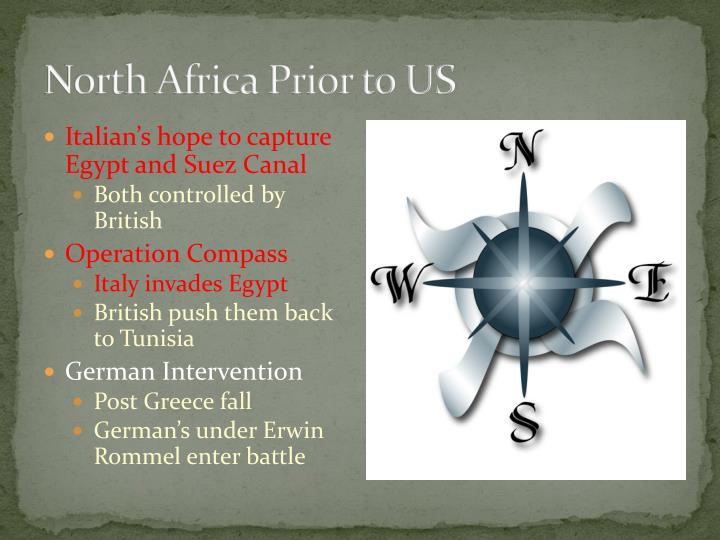 North Africa Prior to US