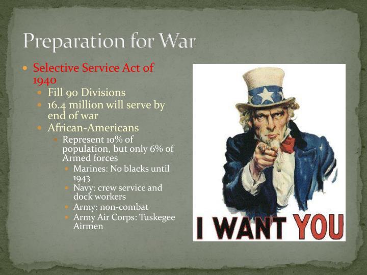 Preparation for War