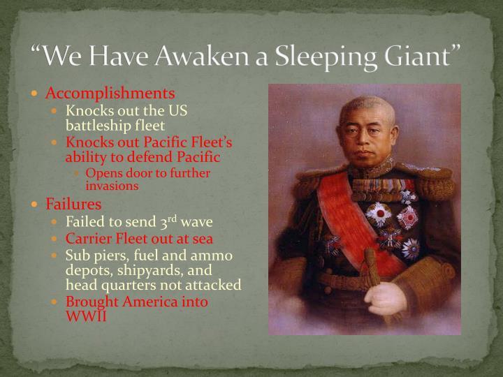 """We Have Awaken a Sleeping Giant"""