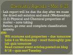 chemistry agenda mon 8 23