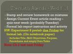 chemistry agenda wed 8 18