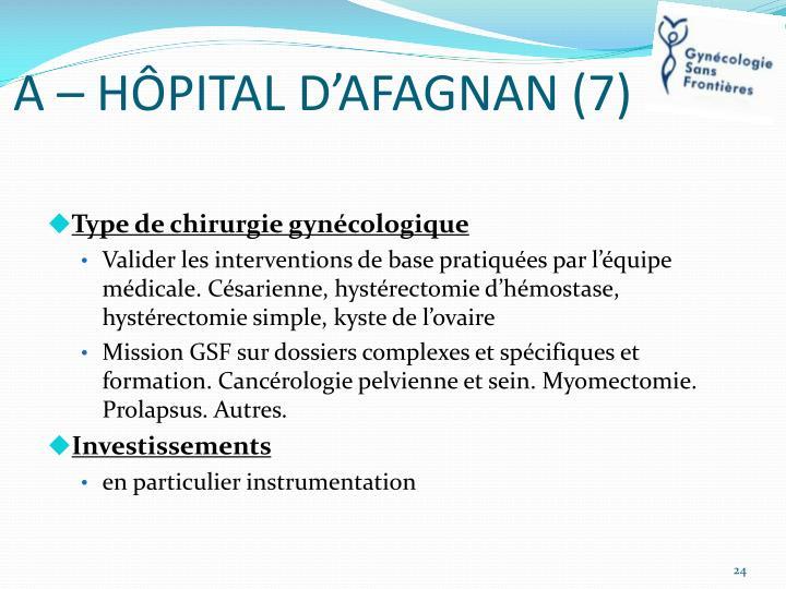 A – HÔPITAL D'AFAGNAN (7)