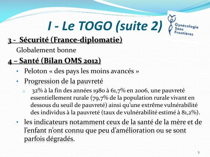 I - Le TOGO (suite 2)