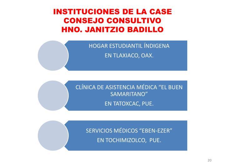 INSTITUCIONES DE LA CASE