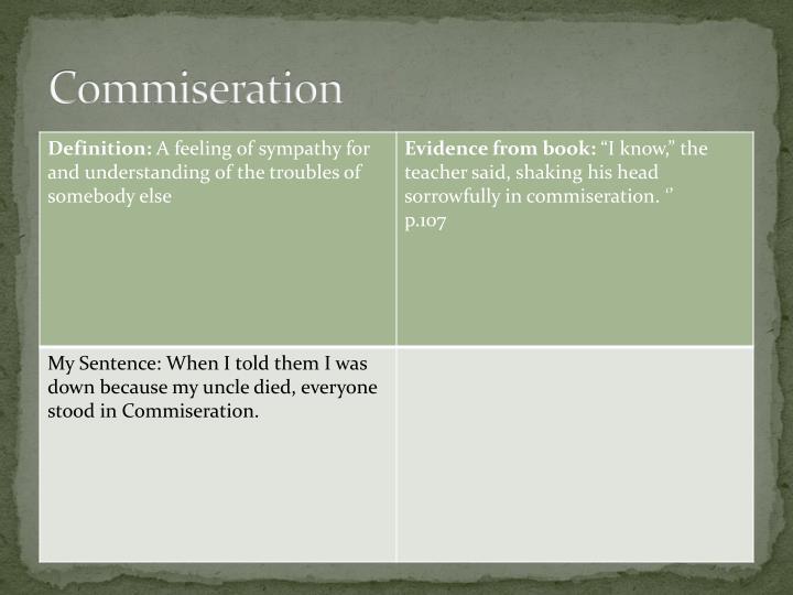 Commiseration