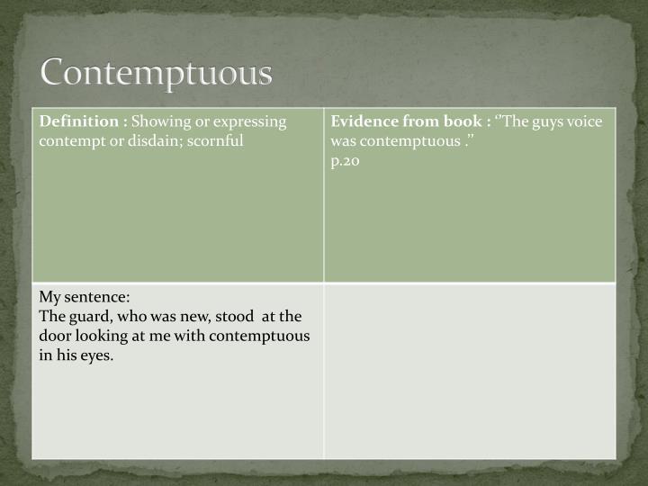 Contemptuous