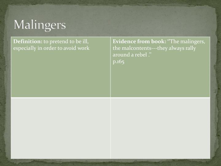 Malingers