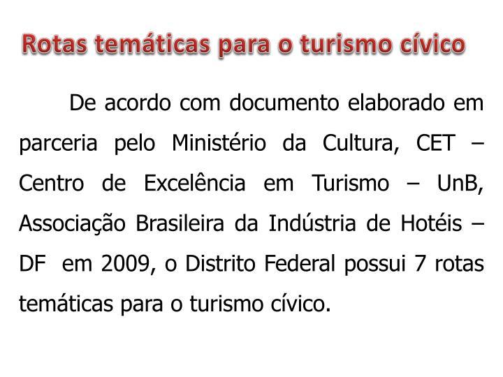 Rotas temáticas para o turism