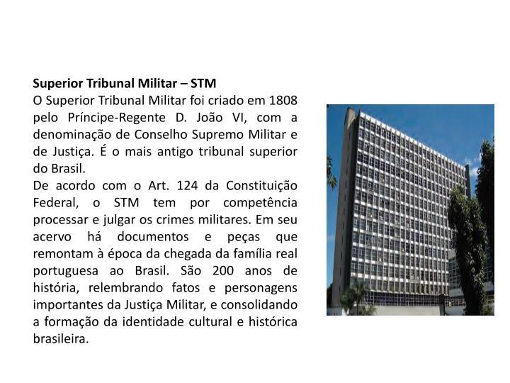 Superior Tribunal Militar – STM