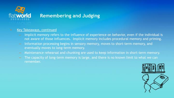 Remembering and Judging