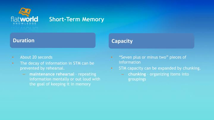 Short-Term Memory
