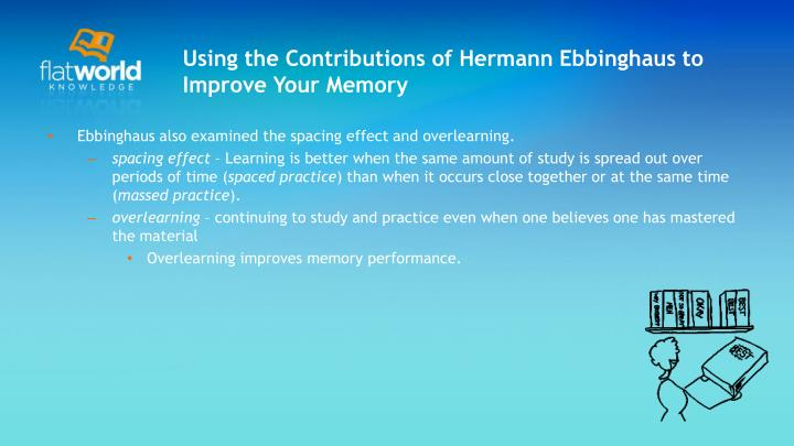 Using the Contributions of Hermann Ebbinghaus to Improve Your Memory