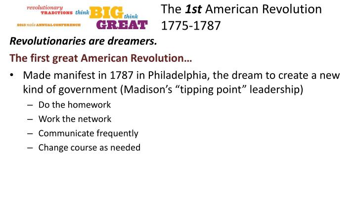 The 1st american revolution 1775 17871