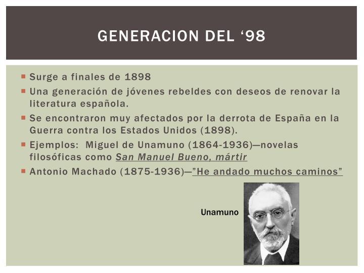 GENERACION DEL '98