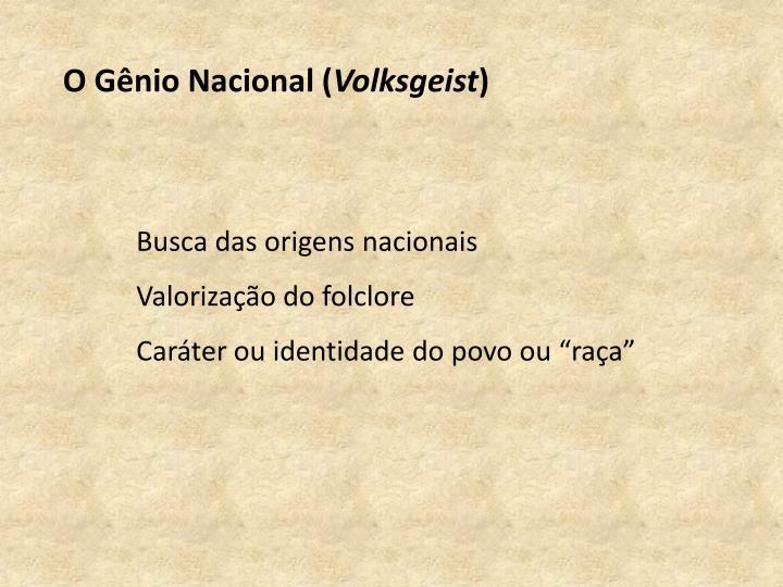 O Gênio Nacional (