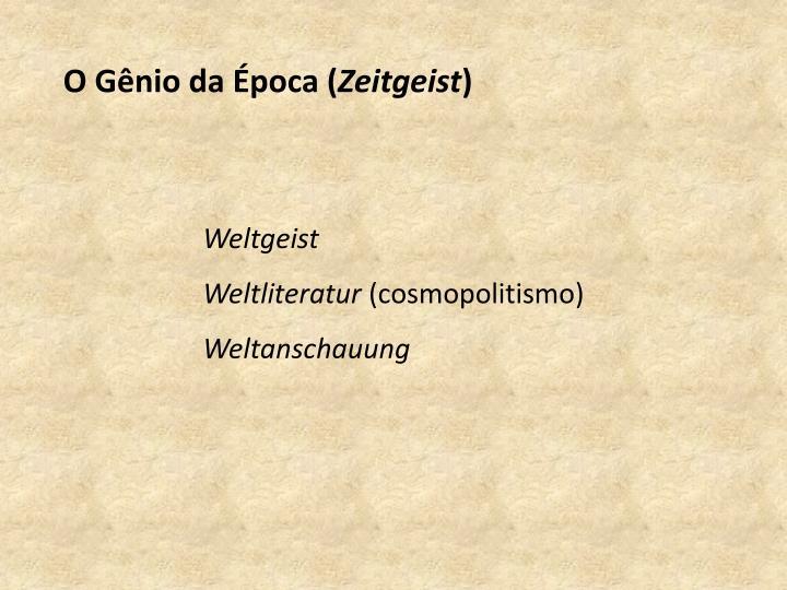 O Gênio da Época (