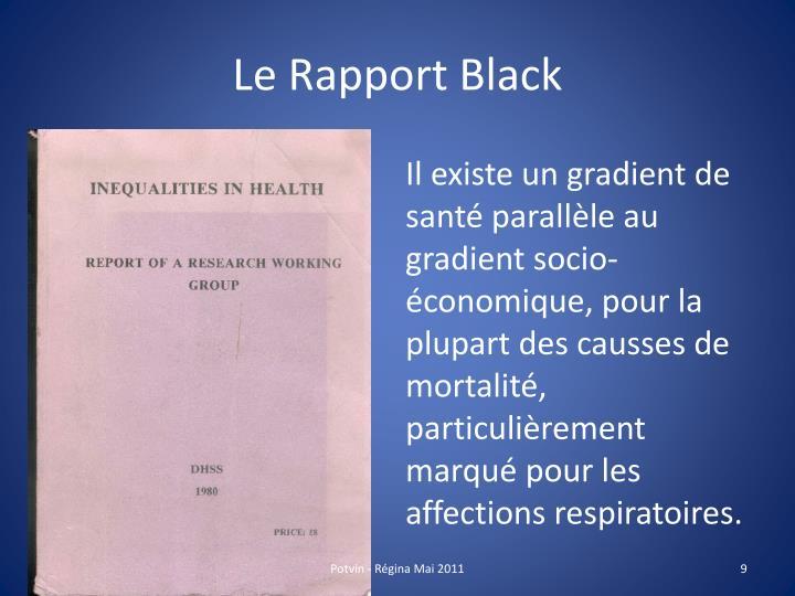 Le Rapport Black