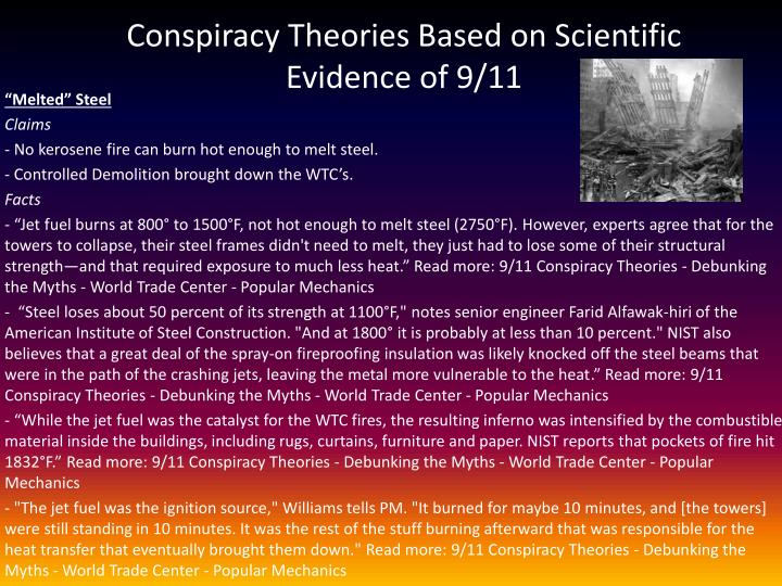 Conspiracy Theories Based on Scientific Evidence of 9/11